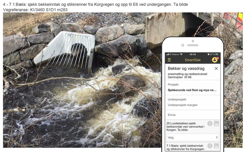 Checklistor på mobilen har gjort översvämningsberedskapen enklare för kommunen