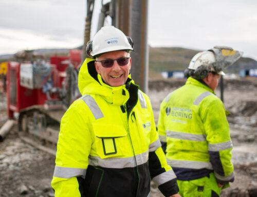 Sør-Norsk Boring är i gång med grundläggningen för nya Hammerfest sjukhus