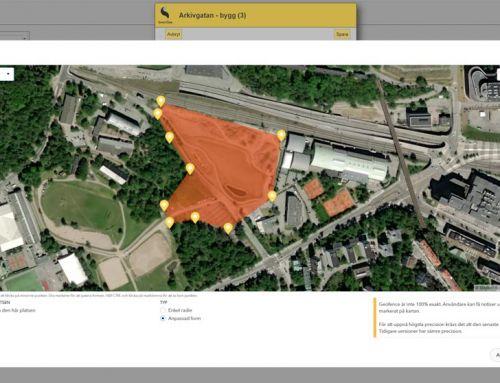 Skapa anpassade geofence-områden i SmartDok
