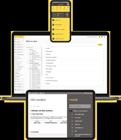 KMA-handbok i appen: användarvänlig, lätt att komma igång med och stor hjälp för det viktiga KMA-arbetet.