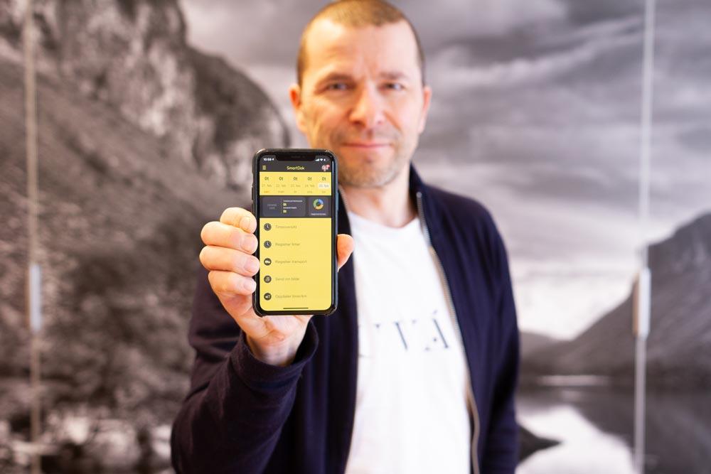 Grundare Bjørn Tore Hagberg glädjer sig över fortsatt stark tillväxt i företaget. Nu 70,000 användare!