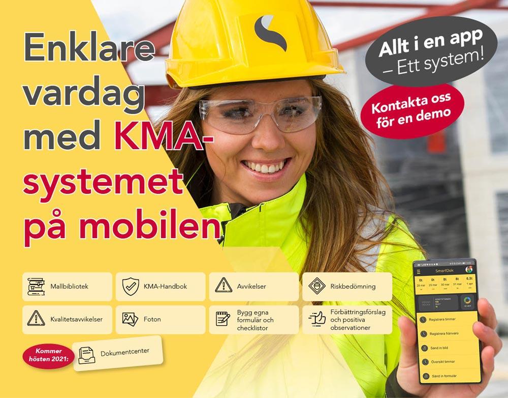 Enklare vardag med KMA-systemet på mobilen