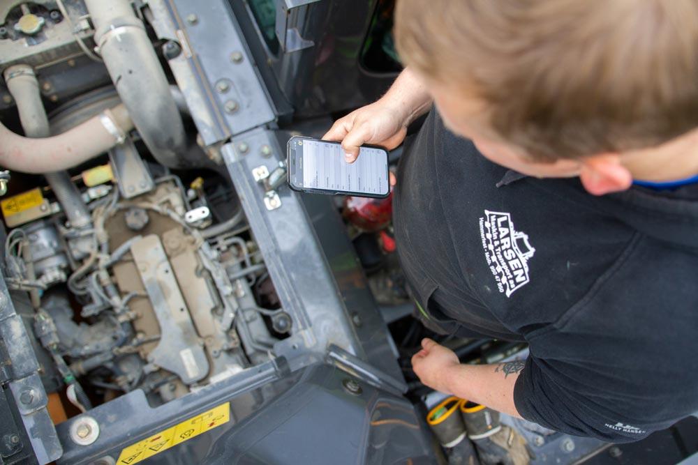 Få översikt över maskinparken, bränsleförbrukning och service.
